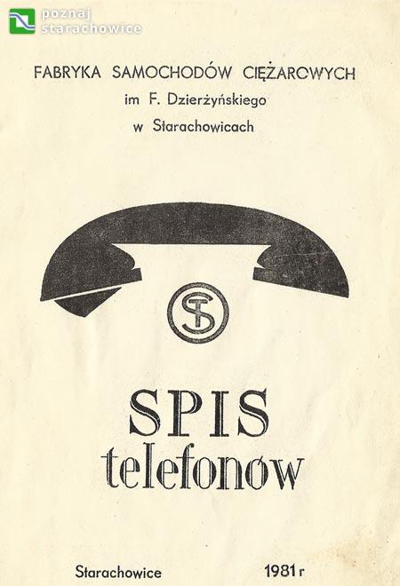 spis telefonów F.S.C. - strona tytułowa