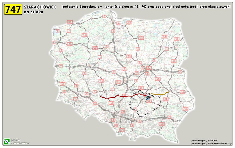 747 prezentacja - położenie Starachowic / system dróg